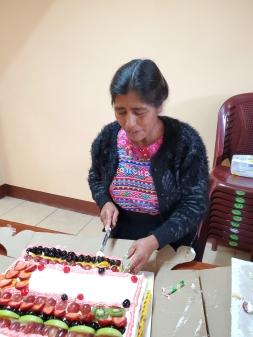 Celebrating with cake!